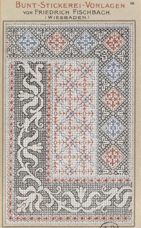 Gallery.ru / Фото #133 - старинные ковры и схемы для вышивки - SvetlanN