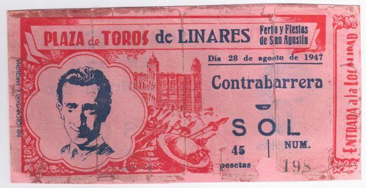 Jaén Linares Entrada (original) dia de la cogida de Manolete