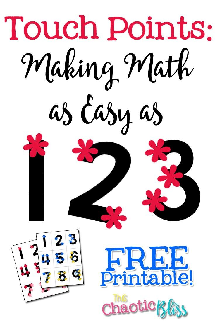 Looking For A A Good Math Hack These Free Printable Touch Points Cards Will Help For More Posts About Homes Touch Point Math Touch Math Worksheets Touch Math