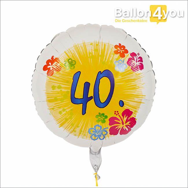 Geschenkballon zum 40. Geburtstag  Runde Geburtstage sind immer eine große Feier wert. Die 40 Jahre markieren einen Wendepunkt im Leben vieler Menschen. Die Kinder werden langsam erwachsen und die Eltern werden zu Großeltern. Alle wollen gemeinsam den 40. Geburtstag von Mama oder Papa feiern. Auf diesem Rundballon mit der großen 40 können alle unterschreiben und damit eine tolle Geschenkidee erschaffen.