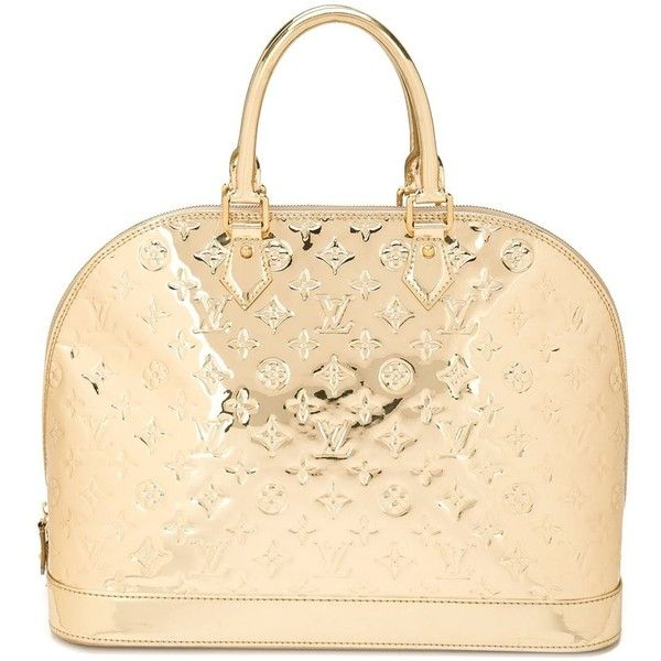 Louis Vuitton Vintage mirrored monogram tote ($5,280) ❤ liked on Polyvore featuring bags, handbags, tote bags, metallic, louis vuitton tote bag, vintage purse, metallic tote, metallic handbags and zip top tote