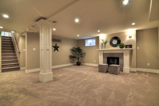 Basement ideas - love this with hardwood instead of the carpet