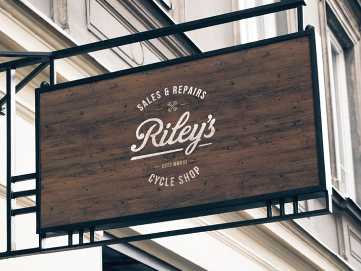 Along with the new branding elements and website we have created for Riley's Cycles we also put forward some concepts for Shop's signage, this is our favourite one. Check the attachments as well fo...