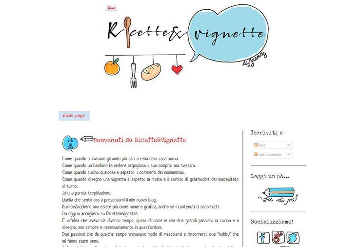 Nuovo template e nuovo indirizzo per Ricette & Vignette http://graficscribbles.blogspot.it/2016/02/template-blog-blogger.html #bloggertemplate