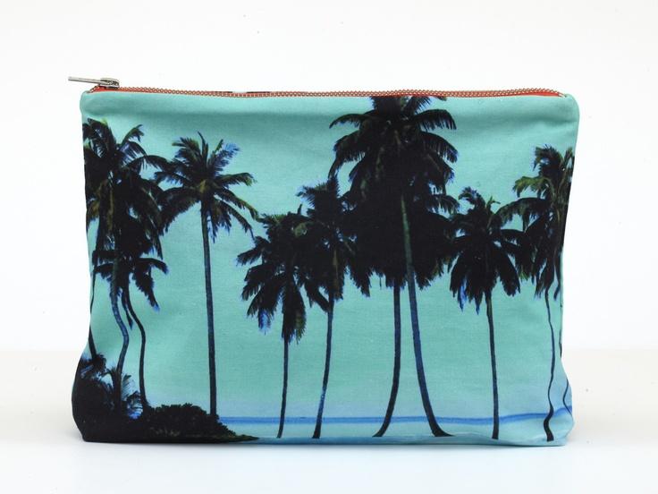 Maldives Aqua Palms Pouch