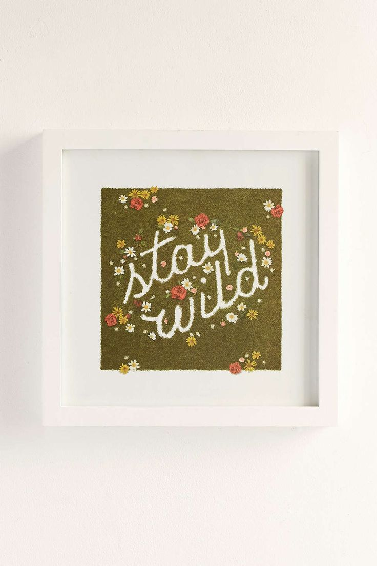 Plum & Bow Stay Wild Framed Wall Art - Urban Outfitters
