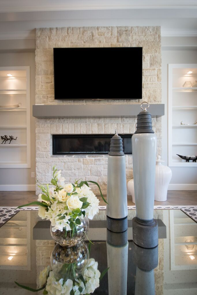 House Of Gray   Berwick Parade Of Homes Luxe Furniture U0026 Design   Tulsa, OK  Design By Audrey Lackner A Modern Fireplace Design.