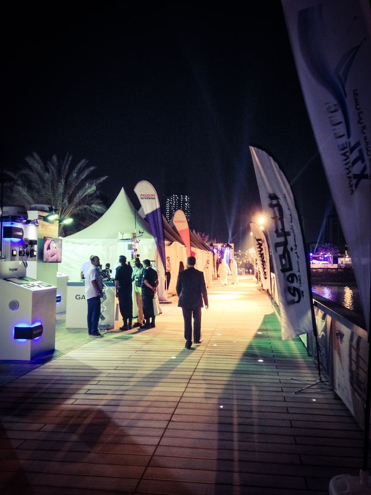 Lusail Marina by night