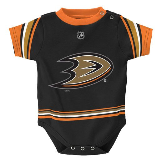 Reebok Anaheim Ducks Infant Black Hockey Jersey Bodysuit