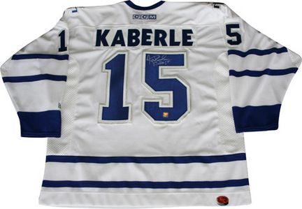tomas kaberle toronto maple leafs autographed pro nhl ice hockey ...