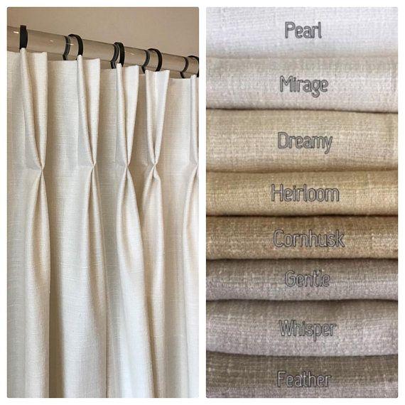 Pembrook Faux Tussah Raw Silk Drapery 38 Beautiful Colors