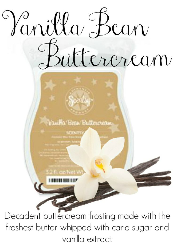 Vanilla Bean Buttercream - Scent of the Month July 2014.  Scentsy - We Make Perfect scents!  With each Scentsy bar you can mix and match and make your own favorite scent. Be creative!  See this scent  more at: lovemyscents2.com