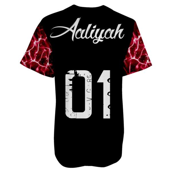 Aaliyah 1 N Million Baseball Jersey ($58) ❤ liked on Polyvore featuring tops, t-shirts, shirts, jersey, black tee, baseball tee, black shirt, jersey knit t shirt and black baseball shirt