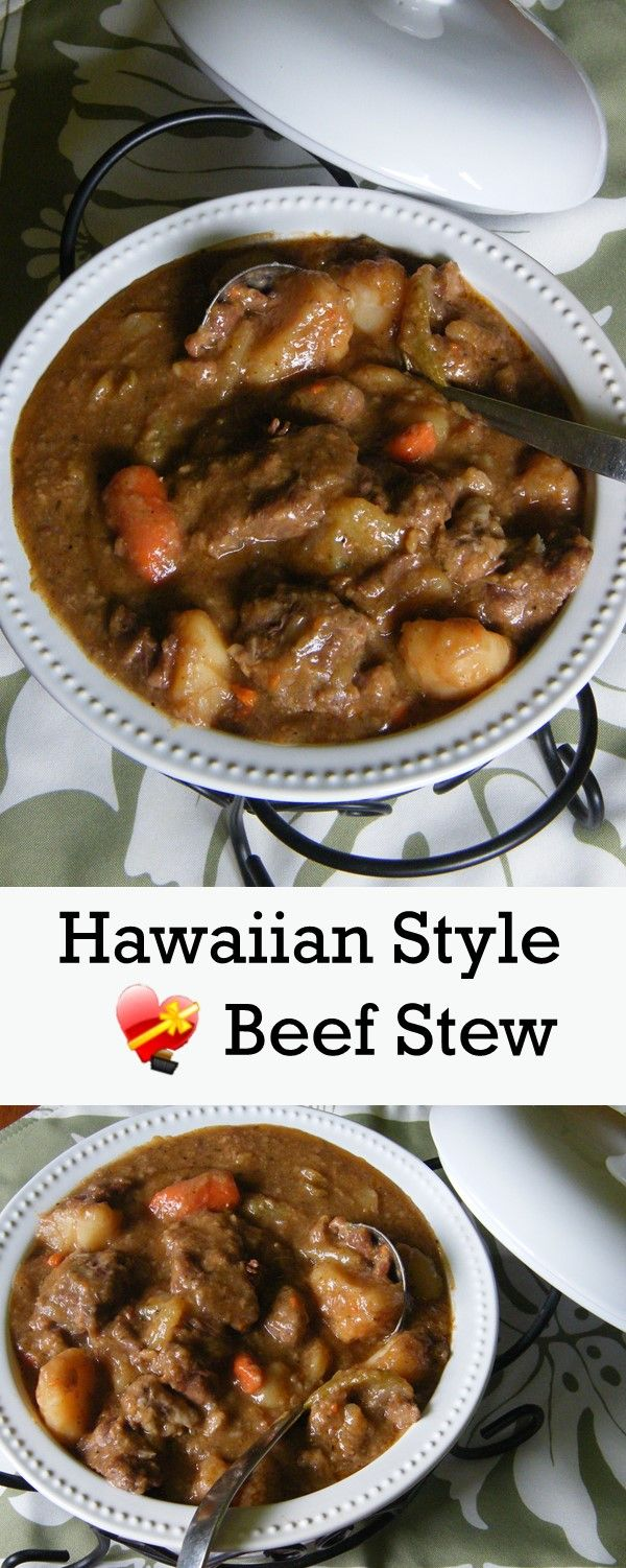 Try these two delicious local favorite Beef Stew Recipes. Get more Hawaiian and local style recipes here.