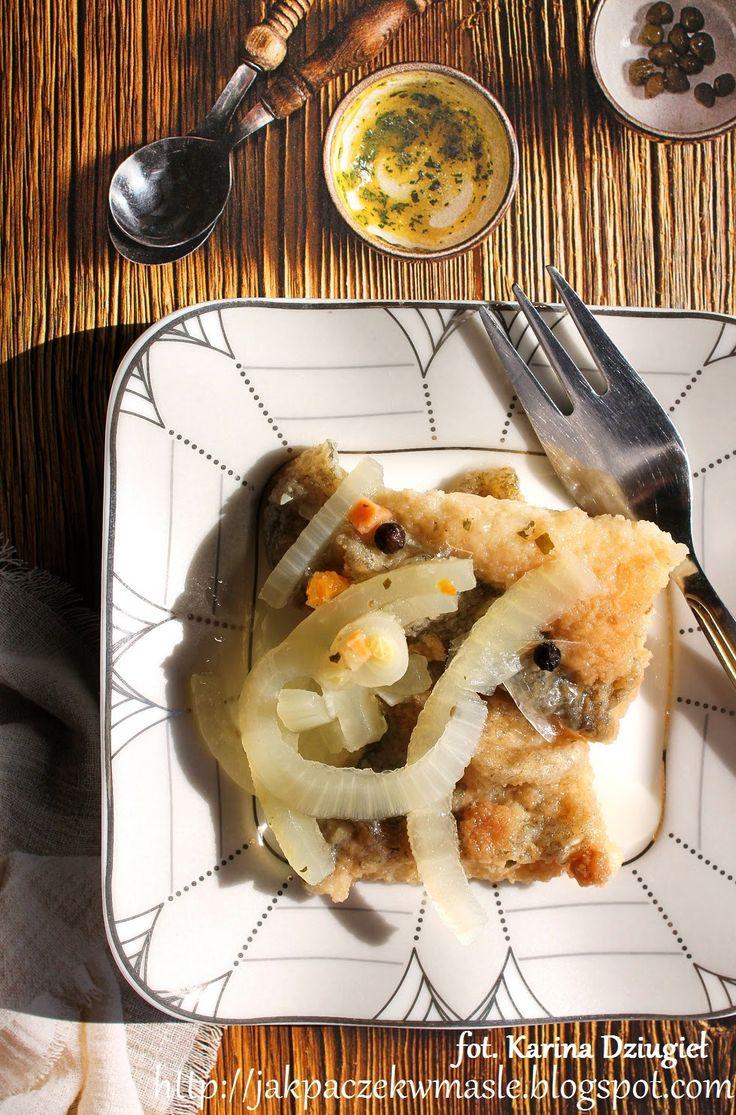 Jak pączek w maśle...blog kulinarny,smacznie,zdrowo,kolorowo!: Smażony filet z dorsza w zalewie octowej