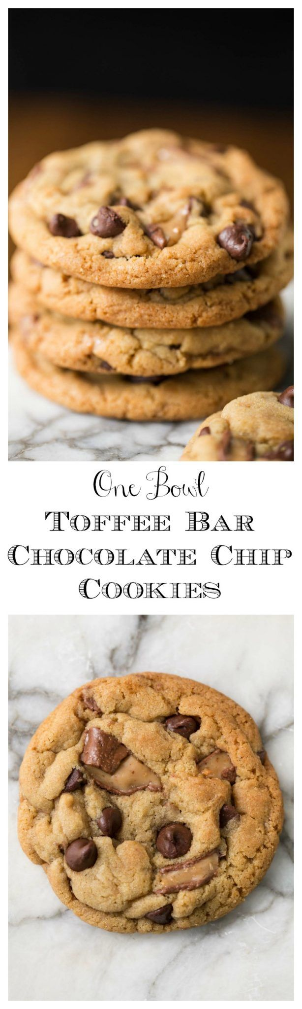 One Bowl Chocolate Chip Cookies - think one-bowl, no-mixer, super-easy, crazy-delicious cookies that look and taste like they came right from a fine bake shop are impossible? Nope, check it out!