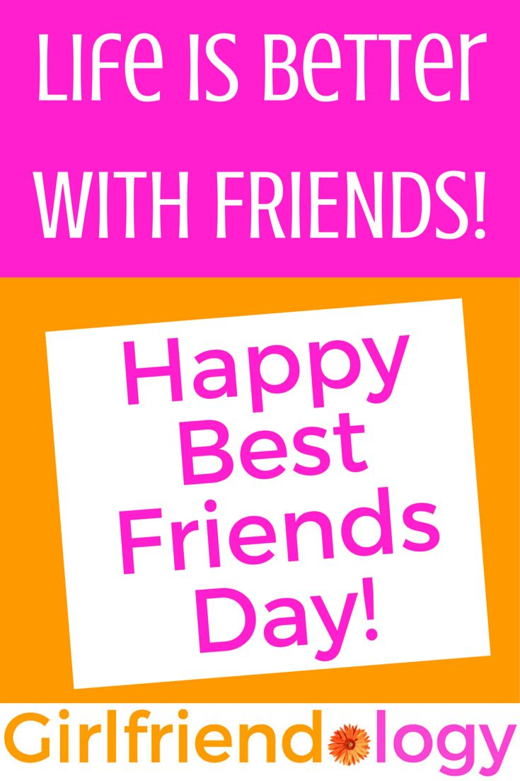 Quote for Happy Best Friends Day! celebrating friendship! (August 7th is National Friendship Day!)