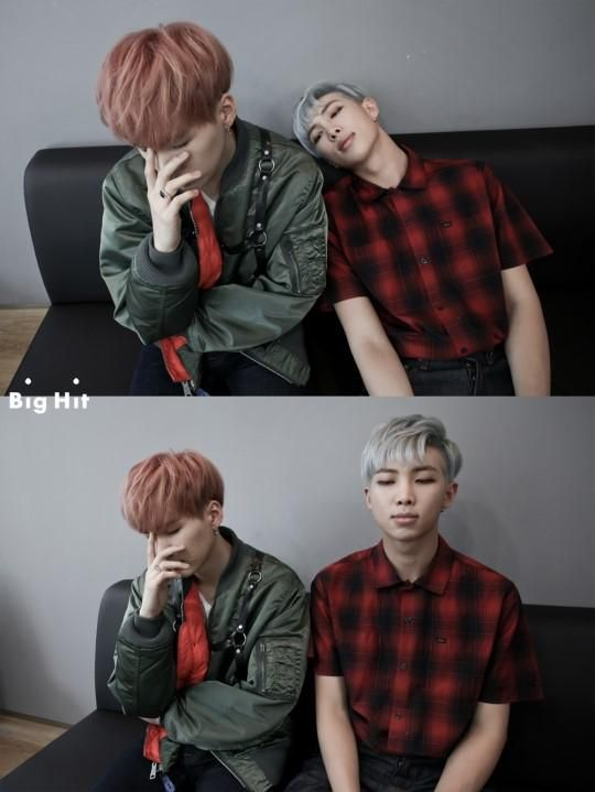 Suga & Rap Monster I cant tell who is fed up of who LOL
