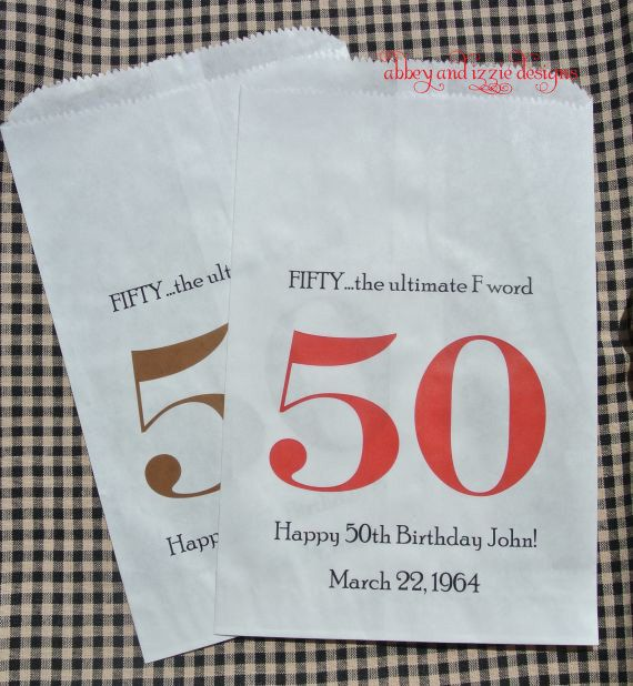 50th Birthday Party by abbeyandizziedesigns on Etsy, $27.00