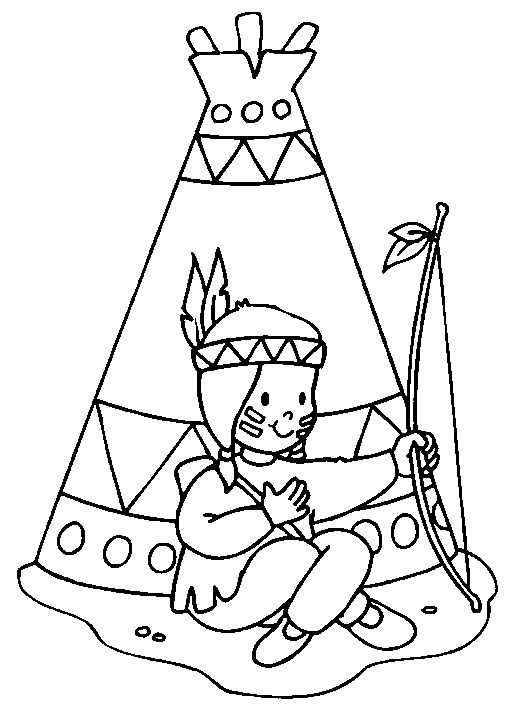 native american patterns printables | Coloring pages of Native Americans people
