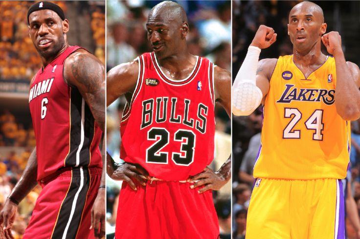 Compare Jordan VS. Kobe VS. Lebron - First 10 Years STATS