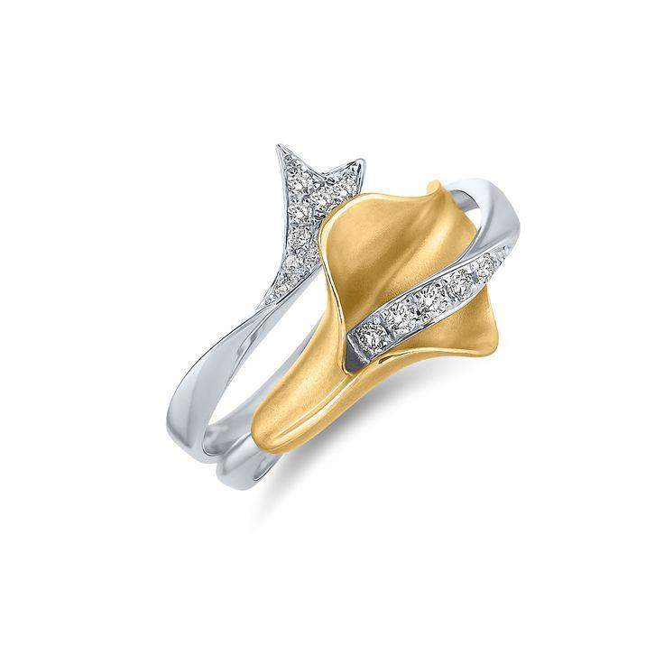 Ring Moonlight Calla www.alodiamonds.com www.alo.cz