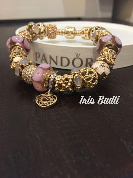 2caee60c5 closeout pandora charms murano gold a54a9 1431e