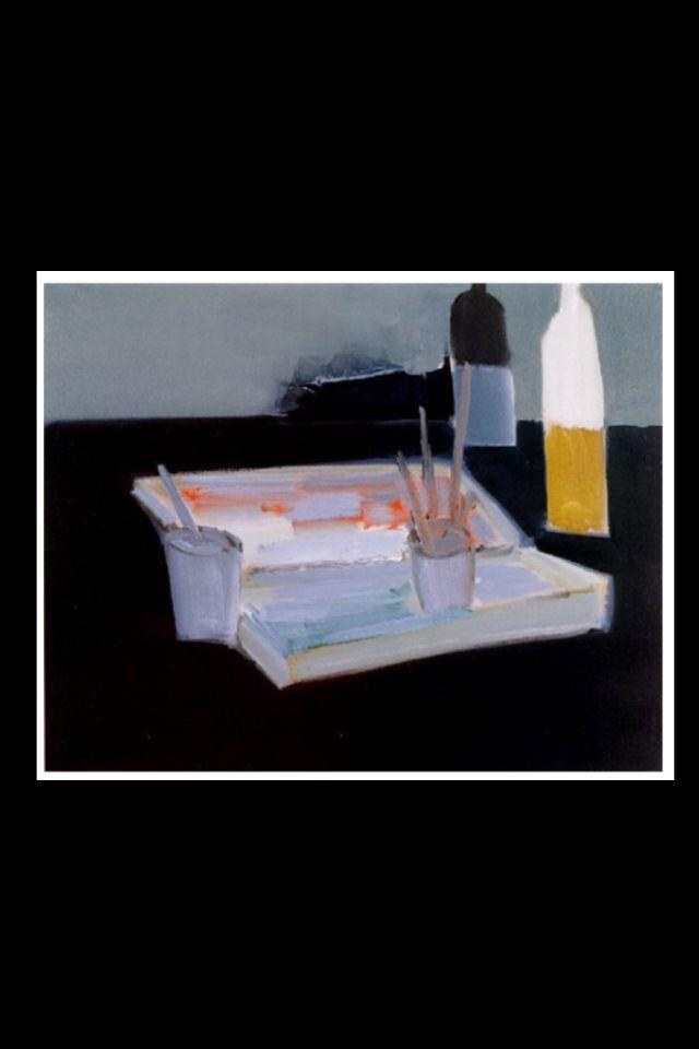 """Nicolas De Staël - """" La boîte d'aquarelle """", 1954 - Huile sur toile - 73 x 91 cm (*)"""