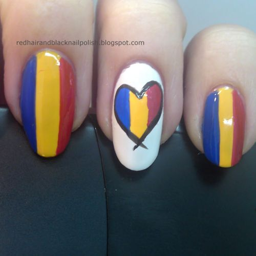 Ultimate World Cup Nail Art 2014 Gallery - #Trending 2014 | #romania #romanian