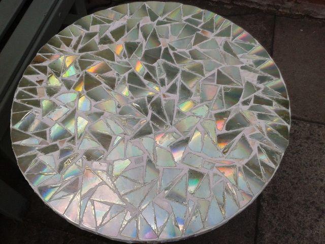 Mosaic CD Table   Mosaics   Pinterest   Mosaic tables ...