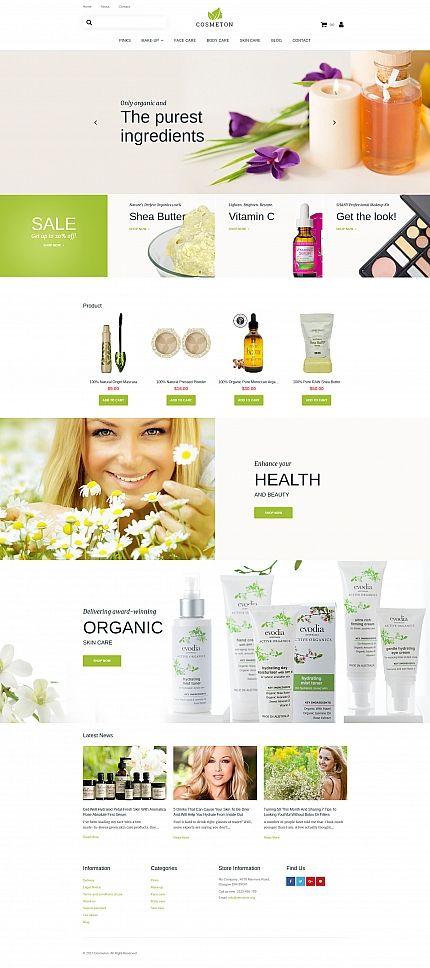 Cosmeton - #skincare  #responsive  MotoCMS #ecommerce  #template