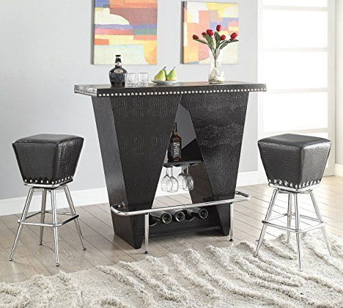 Seat: Black Crocodile PU, nail-head Trim. The product is highly durable. The product is easy to use. The product is comfortable. [MRR] Losing To Win Discover How To Use The Right Tools To Assist You In Your Journey To A Happier And Healthier Life!  Find Out How To Finally Start Shedding The... more details available at https://furniture.bestselleroutlets.com/game-recreation-room-furniture/home-bar-furniture/bar-wine-cabinets/bar-tables/product-review-for-acme-furniture-72655-