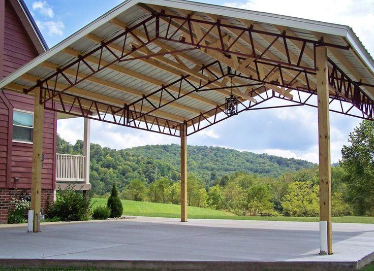 Pole barn kits make great carports! This carport is made