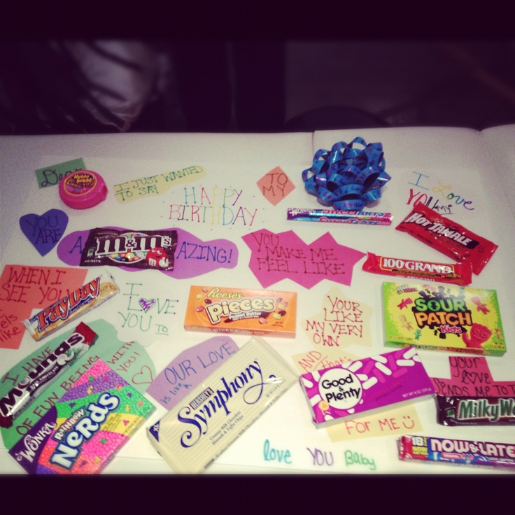 Candy Bar Birthday Card I Made For My Sweet Bf (: