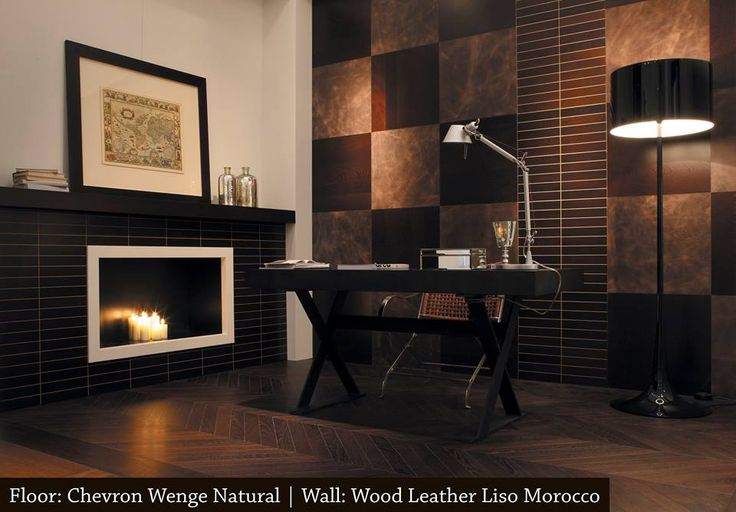 The combination of Wenge Natural Flooring and Liso Morocco Wood Leather gives this living space a streamlined aesthetic.