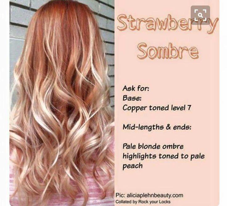 Strawberry Sombre Long Hair Pinterest H 229 R Och Frisyrer