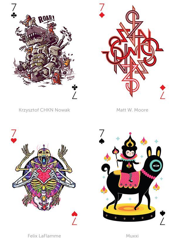 """""""Projeto Playing Arts, onde 54 artistas diferentes criaram cada um uma carta deste baralho, criando mais do que um jogo de cartas, mas também uma mini galeria de arte!"""""""
