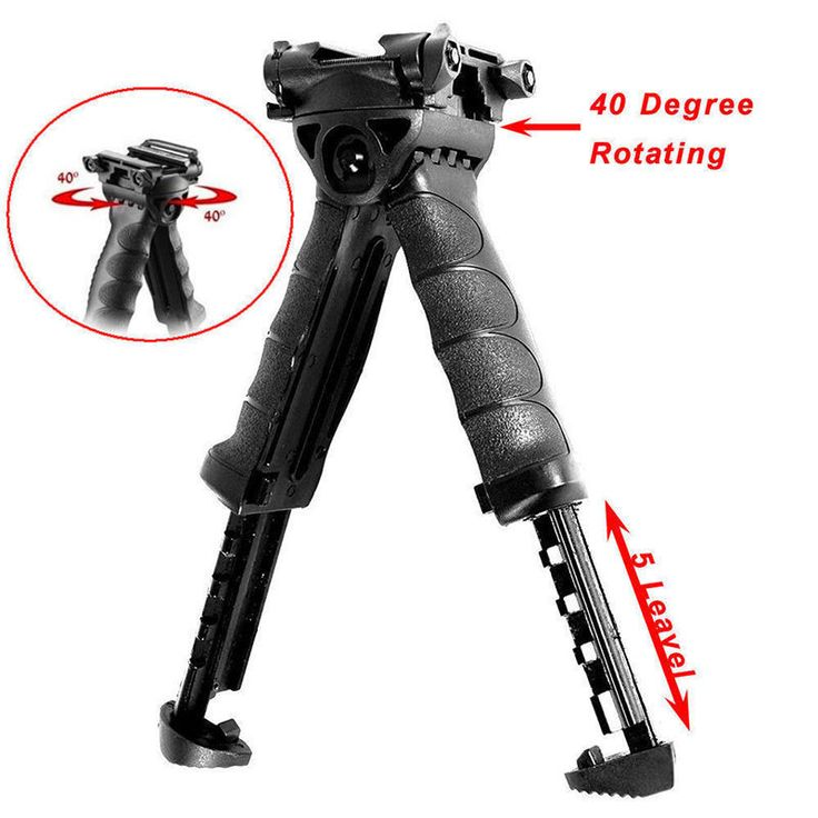 New 2 in 1 Foregrip Swivel Foldable Bipod 20mm Picatinny Rail For Rifle #36987