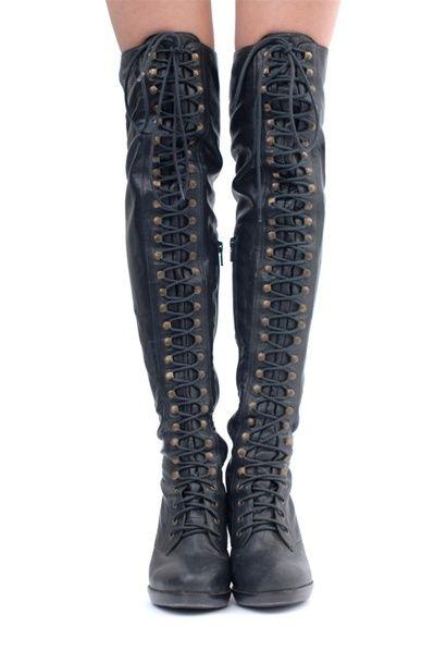 thigh high combat boots graduation shoes