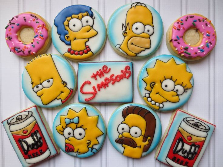 The Simpsons! - Cookie Couture by Sarah