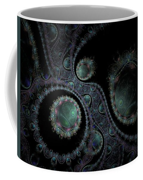 Fractal Coffee Mug featuring the digital art Somewhere In The Universe by Elena Ivanova IvEA  #ElenaIvanovaIvEAFineArtDesign #Decor #Mug #Cup #Gift