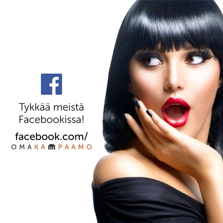 Löydät meidät myös Facebookista! #omakampaamo #facebook #fb #follow #followus #salonki #kampaaja #kosmetologi #kynsitaiteilija #hiukset #kynnet #liiketoiminta #some #palvelu #huippupalvelu Katso lisää osoitteessa www.omakampaamo.fi