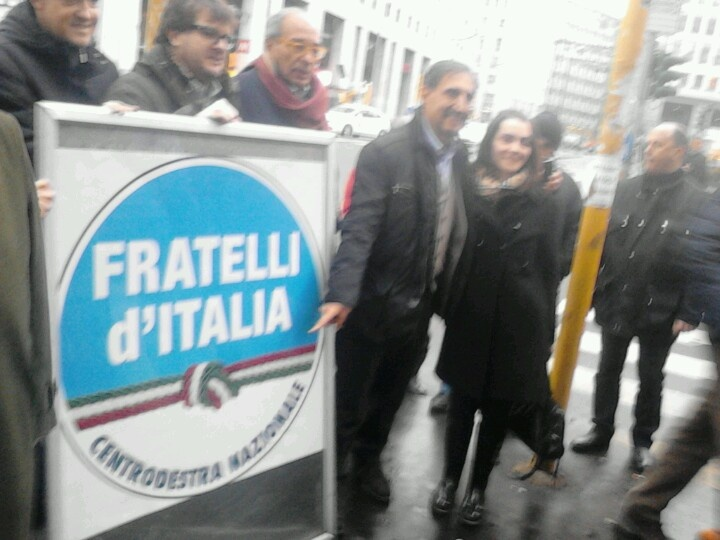 New party foundation. Milan, San Babila sq. 2nd jan 2013