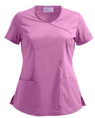 UA Butter-Soft STRETCH Scrubs V-Neck Mock Wrap Top Style # BSS929 #uniformadvantage #uascrubs #adayinscrubs #scrubs #buttersoft #buttersoftstretch