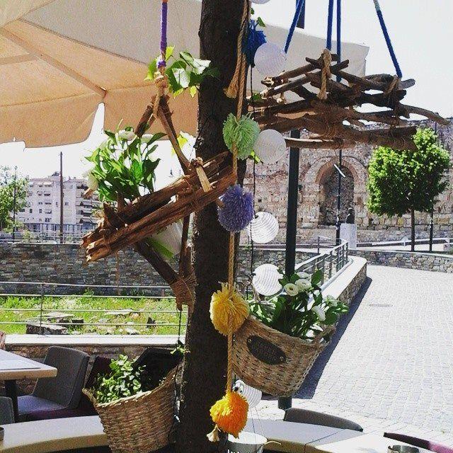 ξύλινα κρεμαστά διακοσμητικά!  Pendant wooden decorations-pom pom by Zbelt