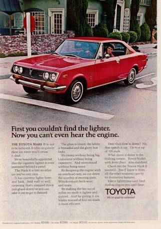 Image result for toyota corolla 1971 advertisement