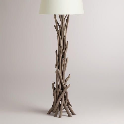 WorldMarket.com: Driftwood Floor Lamp Base  This is awesome for next to the sofa  It's like a work of art and would be the first thing you see when entering the room  Although, it is $199.00