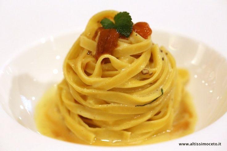 Tagliolini, cacio e pepe al curry, ricci di mare e melissa by Executive Chef MichelangeloCitino, Chef FabioAceti @Michelangelo Restaurant