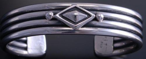 ZBM All Silver Diamond Bracelet by Erick Begay- NJ20F