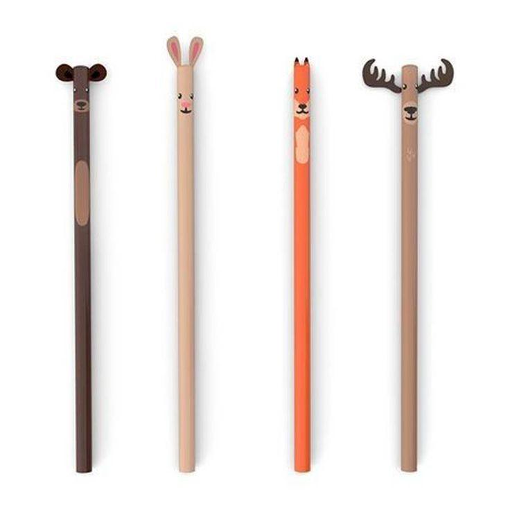 Kikkerland Set de 4 crayons à papier forêt-product